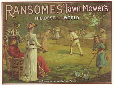 Vintage Ransomes Lawn Mower Advertisement Poster A3 Reprint
