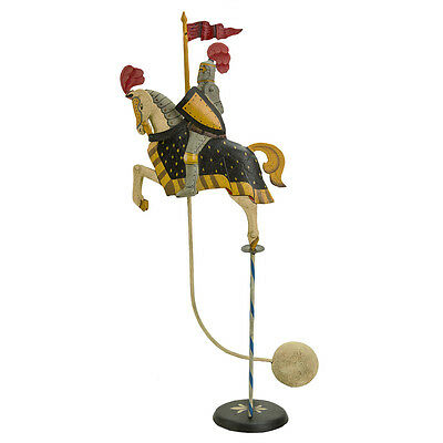 "Medieval Knight Royal Figure Teeter Totter 21"" Tin Balance Sky Hook Toy"