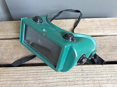 Vintage American Optical Green Welding Goggles Glasses