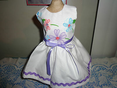 doll clothes dress for 18 inch american girl colorful flower rick rack 268