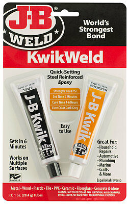 J-B Weld Kwik Weld Quick-Setting Steel Reinforced Two Part Epoxy 2424 psi