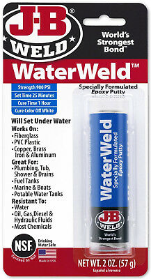 J-B Weld WaterWeld Specially Formulated Epoxy Putty Sets Under Water 900 psi