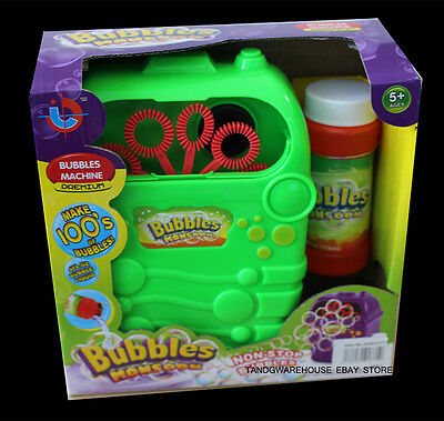 Bubble Machine Childrens Play Battery Operated Toy Outdoor Party Bubbles