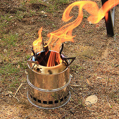 Portable Wood Gas Burning Outdoor Camping  Picnic Party Stove Alcohol Stove