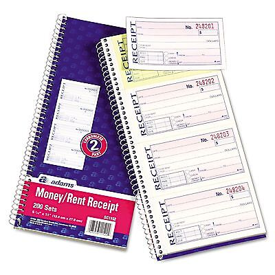 Adams - Wirebound Money/Rent Receipt Books New