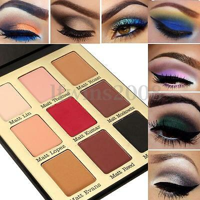 9 Couleur Palette Fard à Paupières Ombre Mat Glitter Smokey Eyeshadow Maquillage