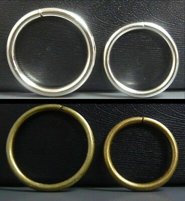 Metal O Rings 32mm/38mm Non Weld DIY straps collars Leather craft 2 color option