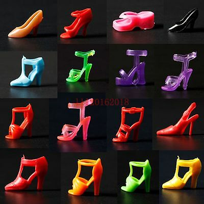 40pcs 20 Pair Diffirent High Heel Shoes For 290mm Barbie Doll Toy Accessories