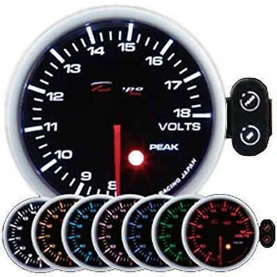 Depo Racing 60 mm Electric Fuel Pressure 2 Color Smoked Red White Dual View Kit