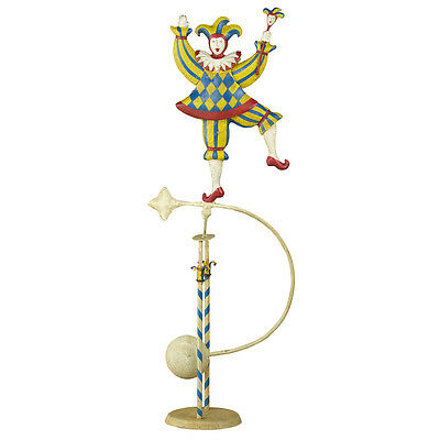 "Medieval Jester Royal Figure Teeter Totter 24"" Tin Balance Sky Hook Toy"