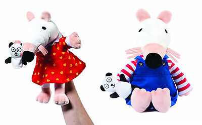 """Aurora Maisy Mouse 15"""" Plush AND/OR 11"""" Hand Puppet"""