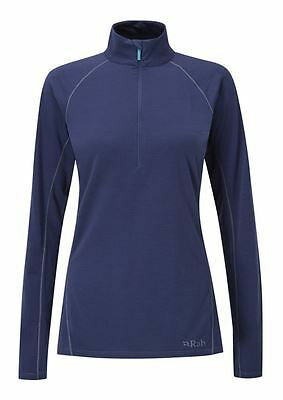 Rab Womens Merino+ 160 LS Zip - Twilight