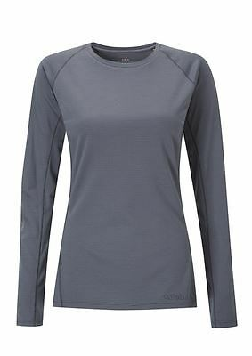 Rab Womens Merino+ 160 LS Crew - Granite Stripe