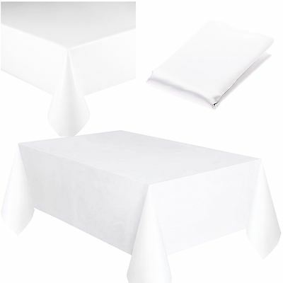 Plastic Table Cover Cloth Square Reusable Wipe Clean Waterproof Party Tablecloth