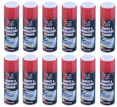 12 x 300ML Auto Carpet & Upholstery Spray Foam/ Rug/Fabric Stain Remover Cleaner