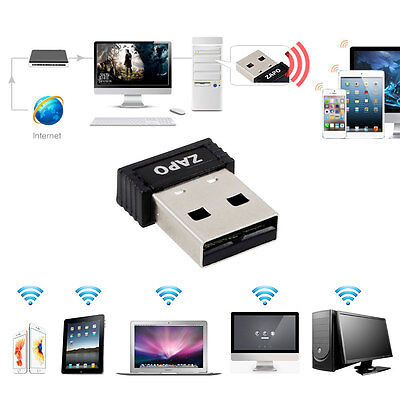 WiFi sin cable USB 2.0 150Mbps red LAN Tarjeta Dongle Adaptador IEEE 802.11n/b/g