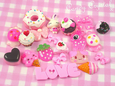 20 x Kawaii Style Cute Resin Cabochons Beads for DIY Decoden Crafts - UK SELLER!