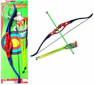 Childrens Kids Super Archery Bow And Arrow Set Outdoor Garden Toy Fun New Game