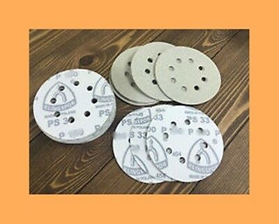 """GREAT VALUE! 100 MIXED 125mm (5"""")SANDING DISCS.SUIT VELCR0.CHOOSE UP TO 4 GRITS"""