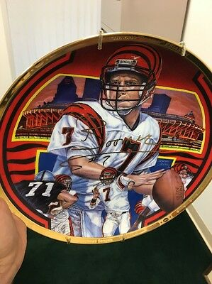 Boomer Esiason autograph limited edition plate