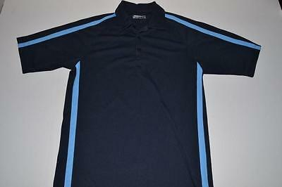 Nike Golf Navy Blue Dry Fit Polo Shirt Mens Size Small S