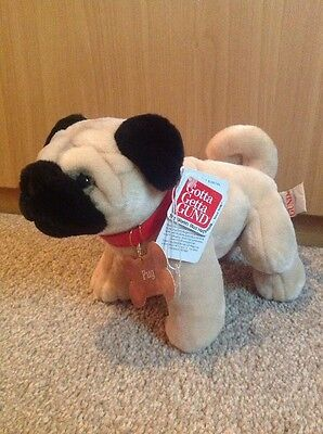 "Gund Pug Dog Plush 10"" New With Tags"