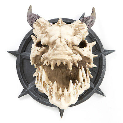 Dragon Skull Statue Wall Table Art Sculpture Medieval Gothic Halloween Decor