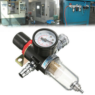 """AFR-2000 1/4"""" Air Compressor Filter Water Separator Trap Tools Kit with Gauge"""