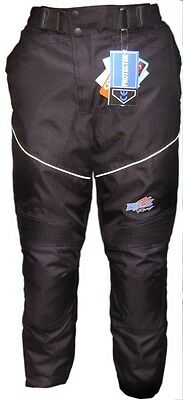 Mens Black Motorcycle Motorbike Waterproof Pants CE Armoured Textile Trousers