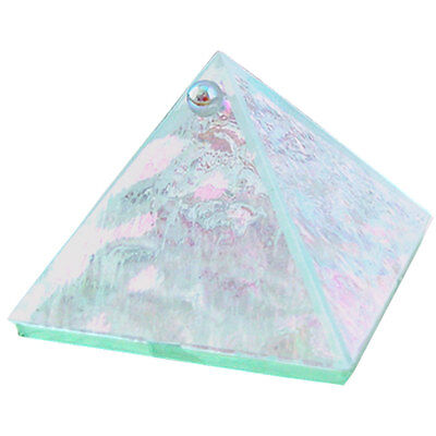 "2"" Unadorned Clear Art Glass Wishing/Charging Pyramid!"