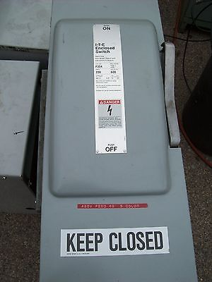 Ite Siemens  200A 200 Amp Heavy Duty Vacu Break Fusible Enclosed Switch , F354
