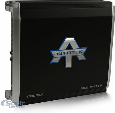 Autotek TA1050.4 1000W TA Series Class AB/D 4-Channel Car Amplifier Amp