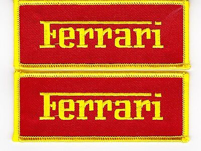 Ferrari Script Red Yellow Sew/iron On Patch Emblem Badge Embroidered Italy Car
