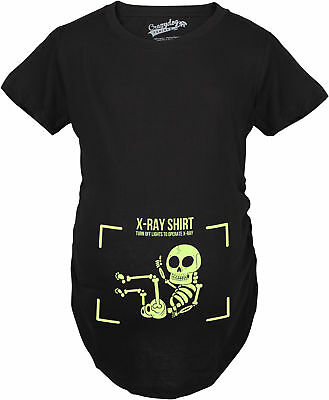 Maternity X-Ray Turn The Lights Off Funny Pregnancy Announcement Glowing T shirt
