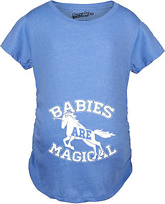 Maternity Babies Are Magical Cute Pregnancy Shirts Funny Unicorn Pregnant Announ
