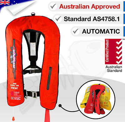 1 x ADULT Life Jacket Inflatable PFD1 Type Yoke LifeJackets Automatic Level 150N