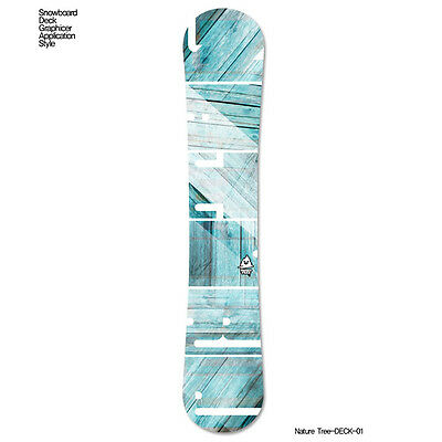 Skin Decal Stickers For Snowboard Deck Tuning Customize Graphicer Nature Tree