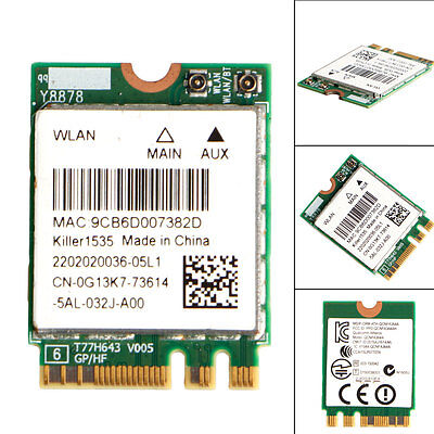 ac/a/g/n M.2 Wireless Card + ALIENWARE 17 R3 P43F Bluetooth 4.1 For Killer 1535