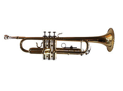 Woodstock Trumpet Key Bb Gold-Lacquered with Case S-766725