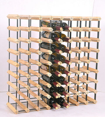 72 Bottle Timber Wine Rack - Complete Wooden Wine Storage System S-817123