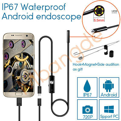 5.5mm 7mm 8mm 720P Android Endoscope Waterproof Borescope Inspection Camera