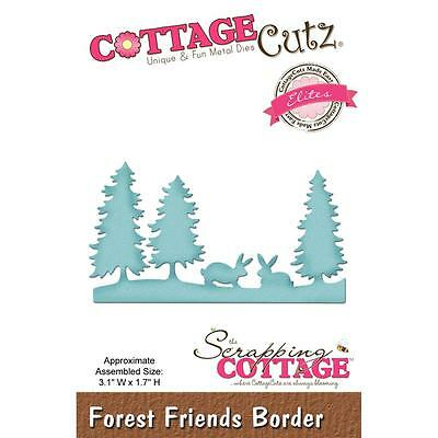 "CottageCutz Elites Die Forest Friends Border 3.1X1.7"" Stanzschablone Wald 8x4 cm"