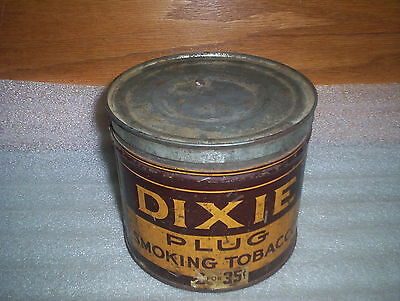 "Imperial Canada Dixie Plug 2 for 35¢ Smoking Tobacco Tin (4 1/2"" tall x 5 1/8"")"