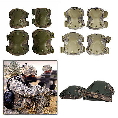 Tactical Combat Military Knee Elbow Protector Protective Gear Brace Pads Sports