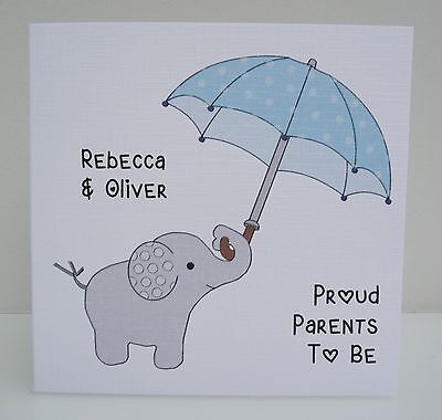 Personalised Baby Shower Card for Mummy and Daddy to be - Girl or Boy