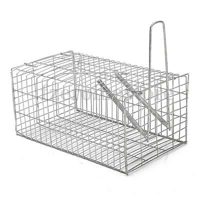 Humane Rat Cage Trap Live Animal Catcher No Poison Pest Control Rodent indoor