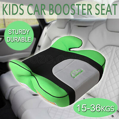 Safe Sturdy Kid Car Booster Seat Baby Child Children Fit 3 To 12 Years Green AUS
