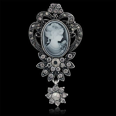 SPILLA CAMMEO 3x7CM - VINTAGE VICTORIAN CAMEO BROOCH WEDDING PARTY PIN BROACH