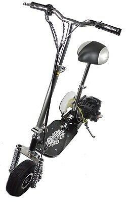 New 2 Stroke Ride On Unisex 49cc Mini Petrol Scooter + Suspension Christmas Gift