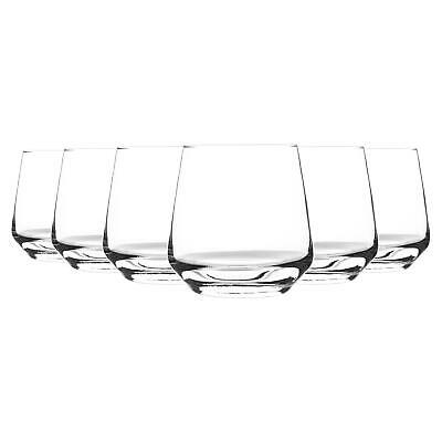 Tumbler Drinking Glasses for Water / Whisky / Juice, 345ml - Set of 6